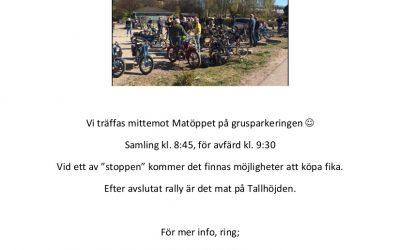 Välkomna till årets mopperally i Simlångsdalen lördagen den 9/5-2020